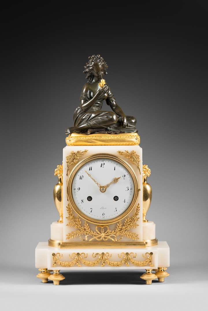 An early 19th Century striking mantel clock